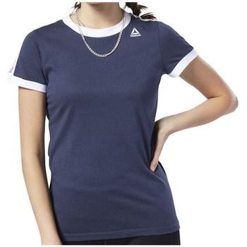 Textil Mulher T-Shirt mangas curtas Reebok Sport Linear Logo Tee Azul marinho