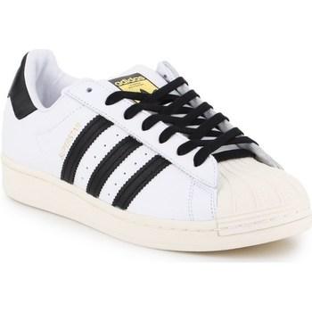 Sapatos Homem Sapatilhas adidas Originals Superstar Laceless Branco,Preto