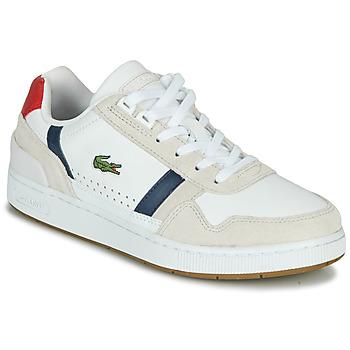 Sapatos Mulher Sapatilhas Lacoste T-CLIP 0120 2 SFA Branco / Marinho / Vermelho