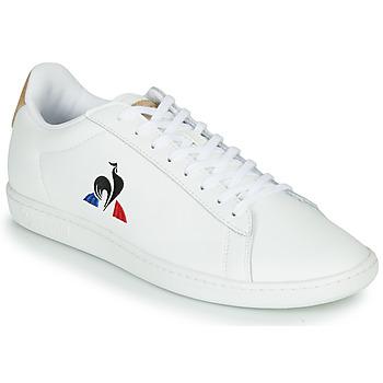 Sapatos Homem Sapatilhas Le Coq Sportif COURTSET Branco / Conhaque