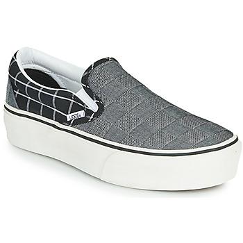 Sapatos Mulher Slip on Vans CLASSIC SLIP-ON PLATFORM Cinza