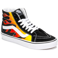 Sapatos Sapatilhas de cano-alto Vans SK8-HI REISSUE Preto / Chama
