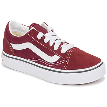 Sapatos Criança Sapatilhas Vans UY OLD SKOOL Bordô