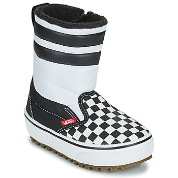 Sapatos Criança Botas de neve Vans YT SLIP-ON SNOW BOOT MTE Preto / Branco