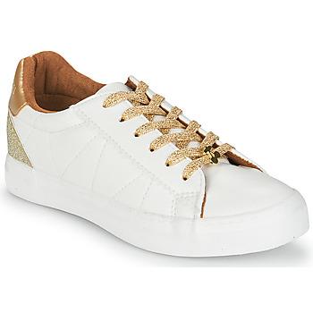 Sapatos Mulher Sapatilhas Le Temps des Cerises VIC Branco / Ouro