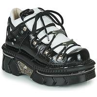 Sapatos Mulher Sapatilhas New Rock M-106N-S76 Preto / Branco