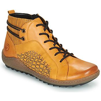 Sapatos Mulher Sapatilhas de cano-alto Remonte Dorndorf R1499-68 Amarelo