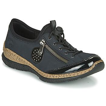 Sapatos Mulher Sapatos Rieker N3268-01 Azul / Preto