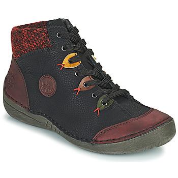 Sapatos Mulher Botas baixas Rieker  Preto / Bordô