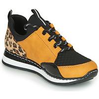 Sapatos Mulher Sapatilhas Rieker N3083-68 Conhaque / Preto