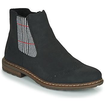 Sapatos Mulher Botas baixas Rieker 71072-02 Preto / Multicolor