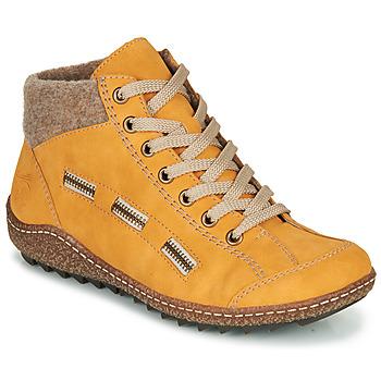 Sapatos Mulher Botas baixas Rieker  Amarelo