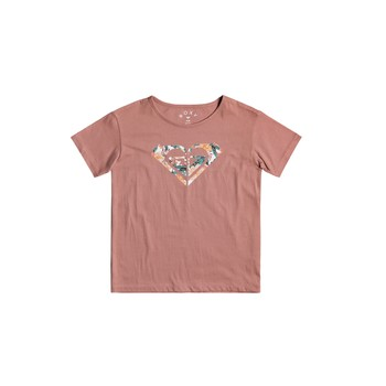 Textil Rapariga T-Shirt mangas curtas Roxy DAY AND NIGHT Rosa