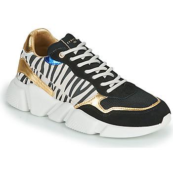 Sapatos Mulher Sapatilhas Serafini OREGON Preto / Branco / Ouro