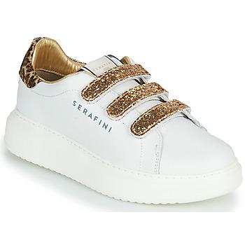 Sapatos Mulher Sapatilhas Serafini J.CONNORS Branco / Ouro