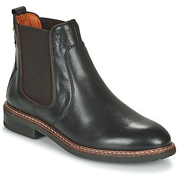 Sapatos Mulher Botas baixas Pikolinos ALDAYA W8J Preto / Castanho
