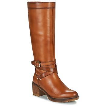 Sapatos Mulher Botas Pikolinos LLANES W7H Castanho