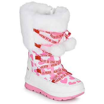 Sapatos Rapariga Botas de neve Agatha Ruiz de la Prada APRESKI Branco
