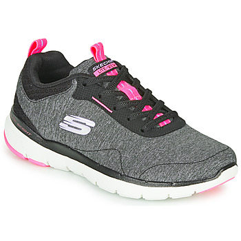 Sapatos Mulher Fitness / Training  Skechers FLEX APPEAL 3.0 Cinza / Preto / Rosa