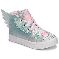 Sapatos Rapariga Sapatilhas de cano-alto Skechers TWI-LITES 2.0 Prata / Rosa