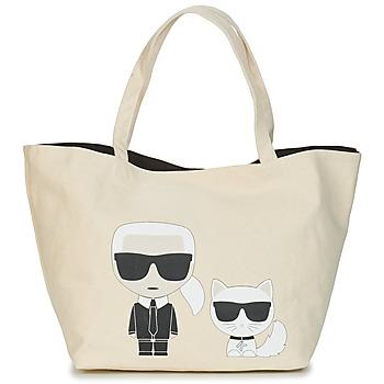 Malas Mulher Cabas / Sac shopping Karl Lagerfeld K/IKONIK KARL & CHOUPETTE TOTE Preto