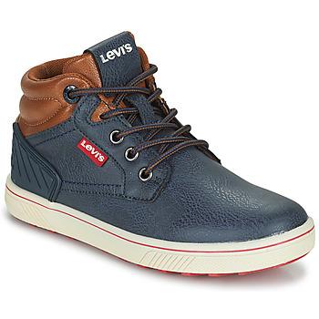 Sapatos Criança Sapatilhas de cano-alto Levi's NEW PORTLAND Marinho