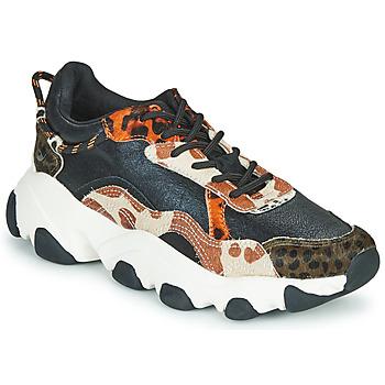 Sapatos Mulher Sapatilhas Gioseppo ALEKSIN Preto / Laranja