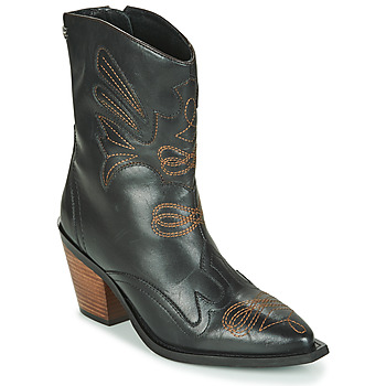 Sapatos Mulher Botins Gioseppo SERAING Preto / Castanho