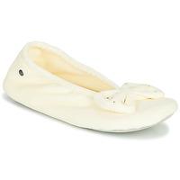 Sapatos Mulher Chinelos Isotoner 95991 Marfim
