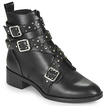 Sapatos Mulher Botas baixas Only BRIGHT 14 PU STUD BOOT Preto