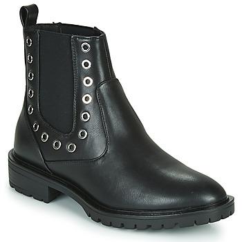 Sapatos Mulher Botas baixas Only ONLTINA 3 PU BOOT Preto