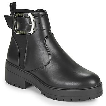 Sapatos Mulher Botas baixas Only BRANKA-5 PU BUCKLE BOOT Preto