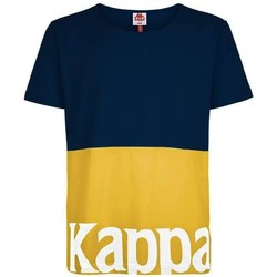 Textil T-Shirt mangas curtas Kappa CARRENCY C.905 BLUE MD-YELLOW-WHITE multicolor
