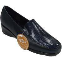 Sapatos Mulher Mocassins 48 Horas Mulher de sapatos fechados simulando cob azul