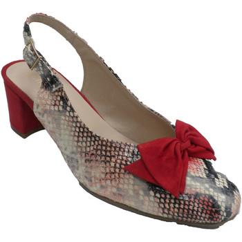 Sapatos Mulher Escarpim Roldán Sapato de mulher com estampa de cobra na rojo