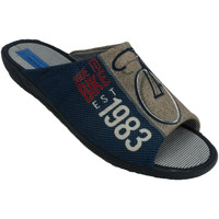 Sapatos Homem Chinelos Made In Spain 1940 Chinelos homem estar em casa dedo aberto azul