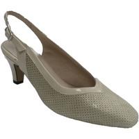 Sapatos Mulher Escarpim Trebede Sapatos de mulher aberto de volta couro beige