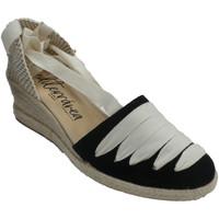 Sapatos Mulher Alpargatas Calzamur Sapato de cânhamo com fitas tipo valenci negro