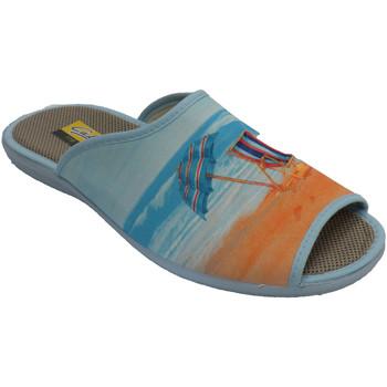 Sapatos Mulher Chinelos Aguas Nuevas Chinelos e guarda-chuva de salto aberto beige