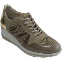 Sapatos Mulher Sapatilhas Pitillosms Sapato desportivo para mulher com costas beige