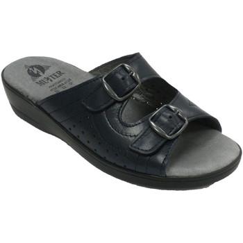 Sapatos Mulher Chinelos Muñoz Y Tercero Chinelos mulheres duas fivelas abertas c azul
