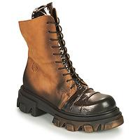 Sapatos Mulher Botas baixas Papucei NURIA Castanho / Preto