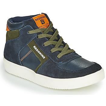 Sapatos Rapaz Sapatilhas de cano-alto Redskins LAVAL KID Marinho / Cáqui