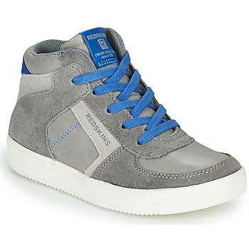 Sapatos Rapaz Sapatilhas de cano-alto Redskins LAVAL KID Cinza / Azul