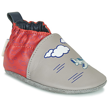 Sapatos Rapaz Chinelos Robeez HAPPY WOLF Cinza / Vermelho