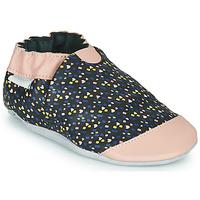Sapatos Rapariga Chinelos Robeez RAINY LOVE Preto / Rosa
