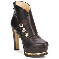 Sapatos Mulher Botins Moschino MA2104 Escuro / Castanho
