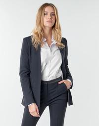 Textil Mulher Casacos/Blazers Karl Lagerfeld PUNTO JACKET W/ SATIN LAPEL Marinho / Preto