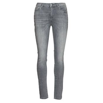 Textil Mulher Calças de ganga slim Karl Lagerfeld SKINNY DENIMS W/ CHAIN Cinza