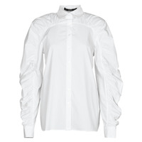Textil Mulher camisas Karl Lagerfeld POPLIN BLOUSE W/ GATHERING Branco